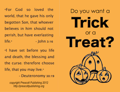 Halloween Tract - Outside