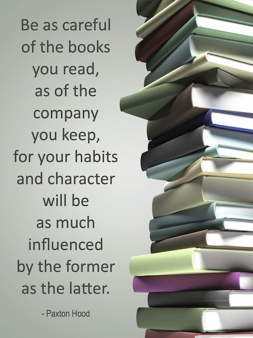 Be careful of the books you read...